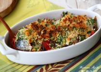 歯に良いレシピ~鰯とトマトの香草パン粉焼き